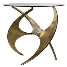 Uttermost Graciano Glass Accent Table
