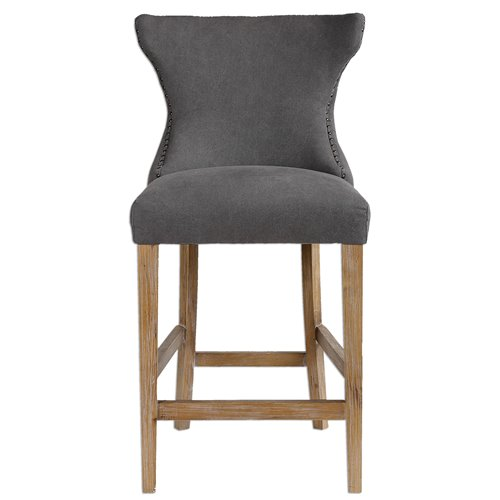 Uttermost Gamlin Gray Counter Stool