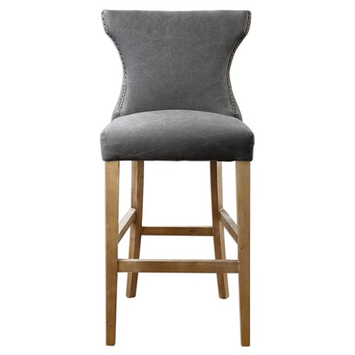 Uttermost Gamlin Gray Bar Stool
