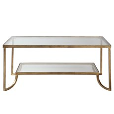 Uttermost Katina Gold Leaf Coffee Table