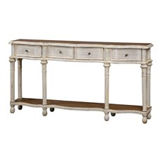 Uttermost Gaultier Aged White Console Table