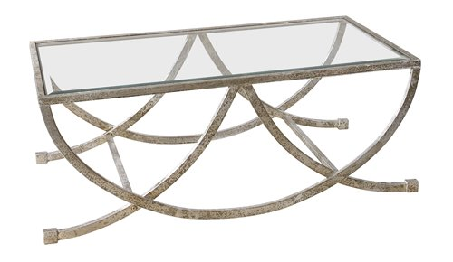 Uttermost Marta Antiqued Silver Coffee Table