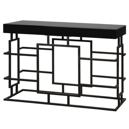 Uttermost Andy Black Console Table
