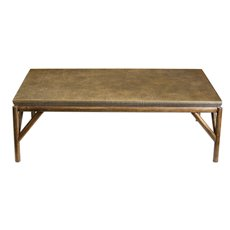 Uttermost Kanti Metallic Champagne Coffee Table