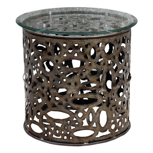 Uttermost Zama Industrial Accent Table