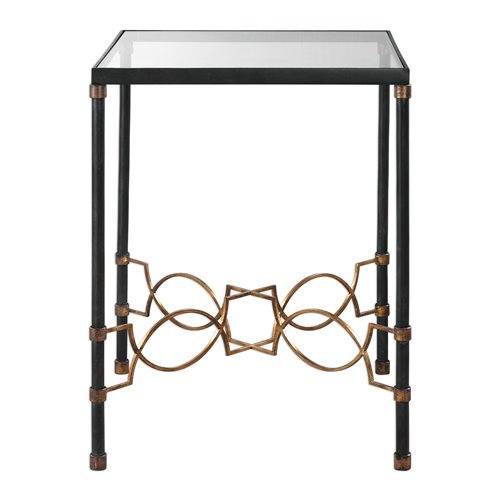 Uttermost Josie Industrial Black Accent Table