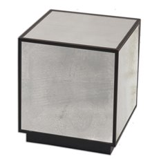 Uttermost Matty Mirrored Cube Table