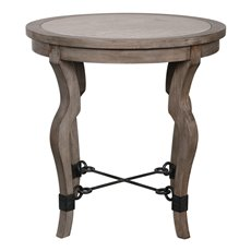 Uttermost Blanche Travertine Lamp Table