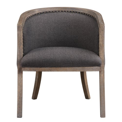 Uttermost Terrell Dark Flax Barrel Chair
