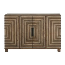 Uttermost Layton Geometric Console Cabinet