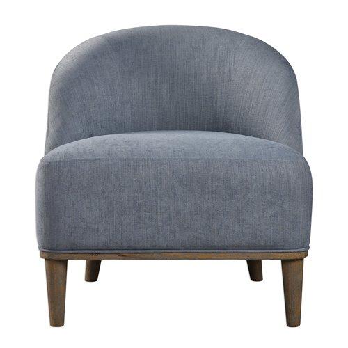 Uttermost Nerine Silver Blue Accent Chair