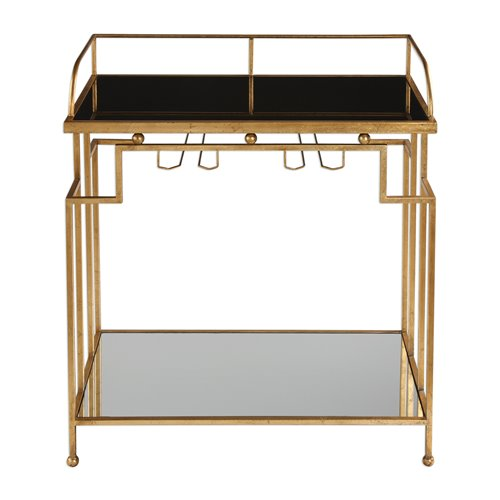 Uttermost Burgess Gold Bar Cart