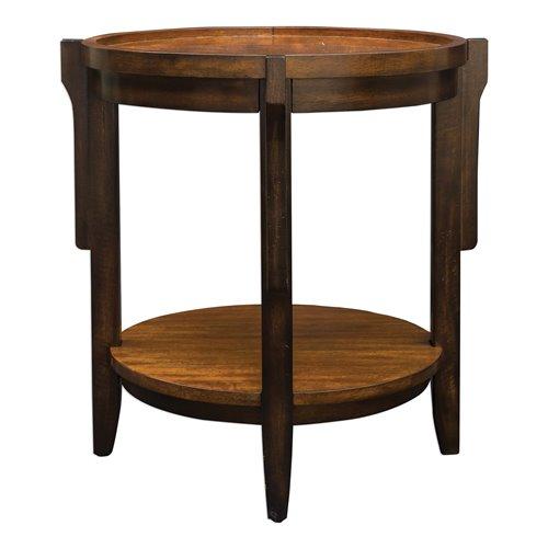 Uttermost Sigmon Round Wooden End Table