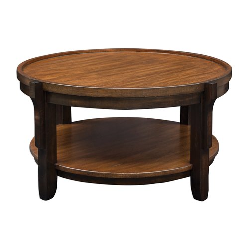 Uttermost Sigmon Round Wooden Coffee Table