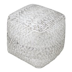 Uttermost Valda Gray Wool Pouf