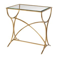 Uttermost Sarette Antiqued Gold Accent Table