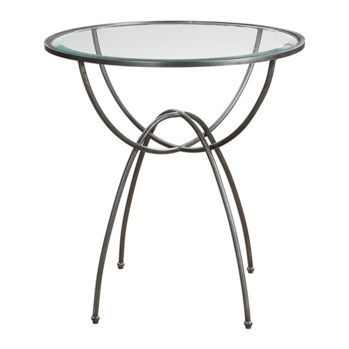 Uttermost Renault Aged Steel Lamp Table