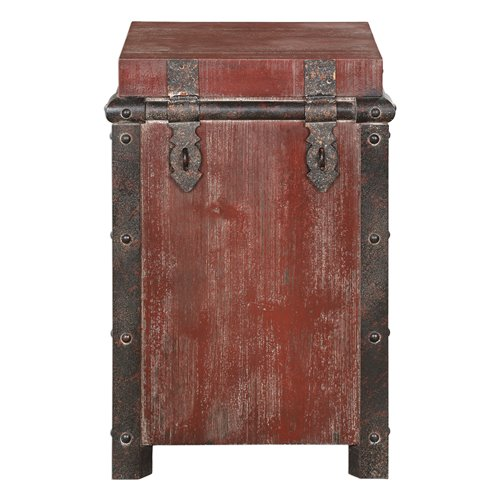 Uttermost Isaac Wine Red Accent Table