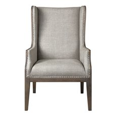 Uttermost Florent Taupe-Gray Armchair