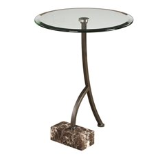 Uttermost Levi Round Bronze Accent Table