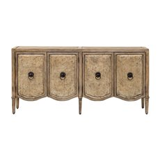 Uttermost Thina Champagne Console Cabinet