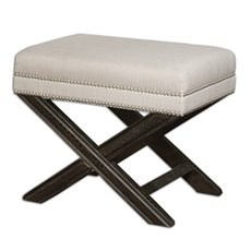 Uttermost Viera Sandy White Small Bench