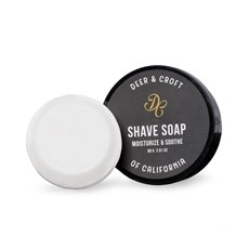 Deer and Croft Moisturize and Soothe 80g Shave Soap in Sealing Plastic Travel case