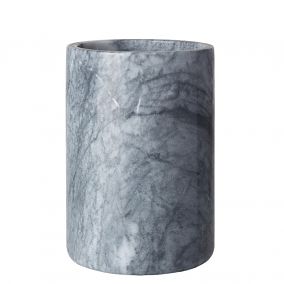 Personalized Gray and White Marble Wine Cooler