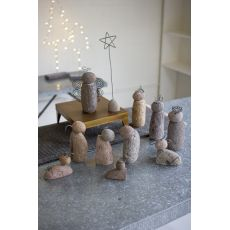 River Rock Nativity Scene Set of 12