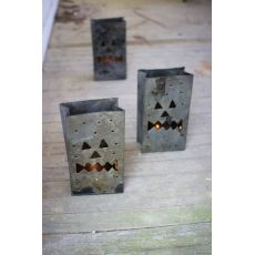 Tin Bag Jack - O - Lantern Luminary Set of 6