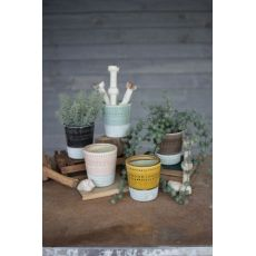 Ceramic Pots - One Each Color Set of 5