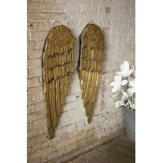 Painted Wooden Angel Wings Set of 2