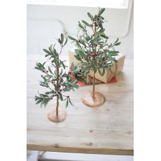 Artificial Mistletoe Trees Set of Two