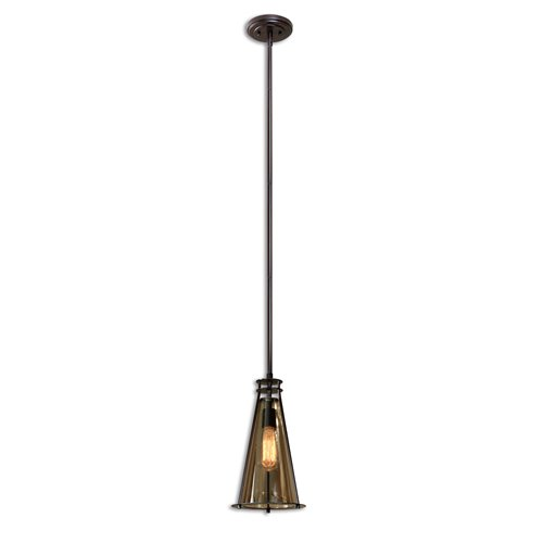 Uttermost Frisco 1 Lt Black Metal Mini Pendant