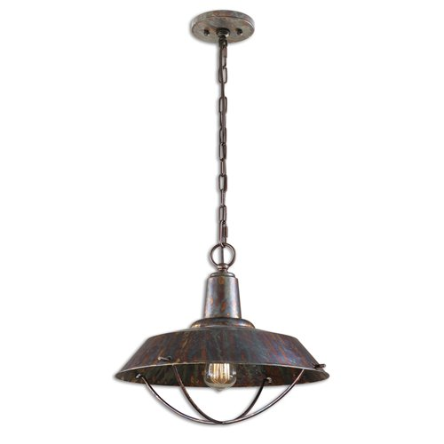 Uttermost Arcada 1 Light Bronze Pendant