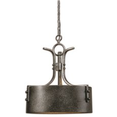 Uttermost Leland 3 Light Metal Drum Pendant