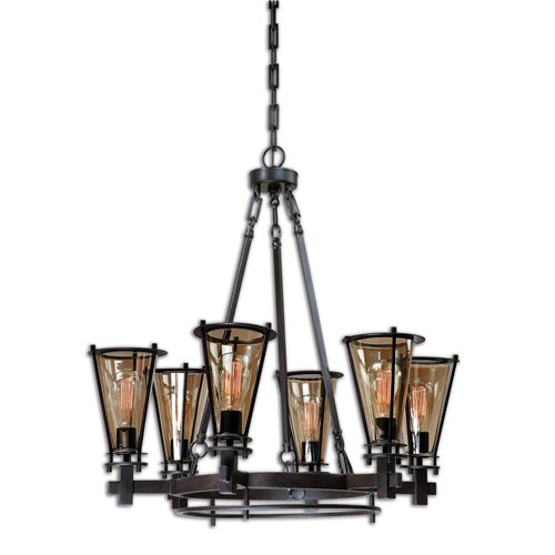 Uttermost Frisco 6 Light Metal Chandelier