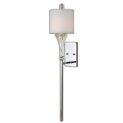 Uttermost Grancona 1 Light Chrome Wall Sconce