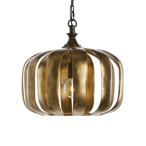 Uttermost Zucca 1 Light Antique Gold Pendant