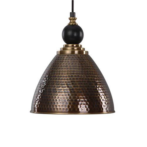 Uttermost Adastra 1 Light Antique Brass Pendant