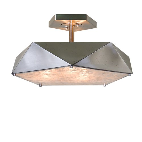 Uttermost Tesoro 3 Light Antique Nickel Semi Flush