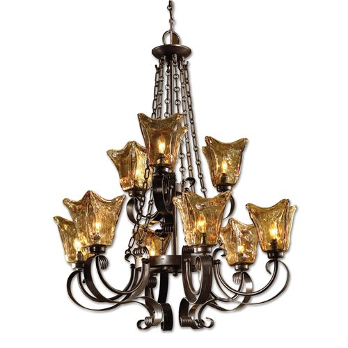 Uttermost Vetraio 9Lt Oil Rubbed Bronze Chandelier