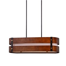 Uttermost Milford 4 Light Oval Wood Chandelier