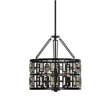 Uttermost Rhombus 5 Light Bronze Pendant