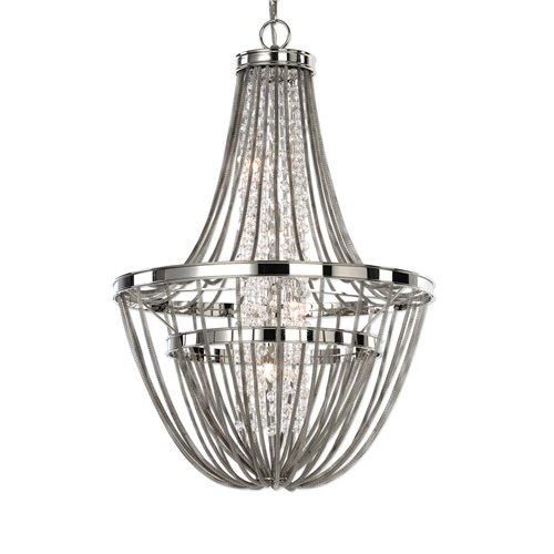 Uttermost Couler Polished Nickel 4 Light Chandelier