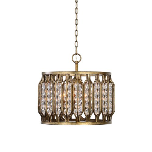 Uttermost Jensen 4 Light Swedish Iron Pendant