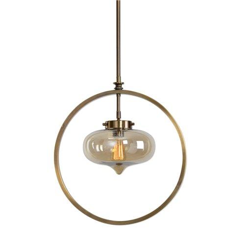 Uttermost Namura 1 Light Brass Mini Pendant