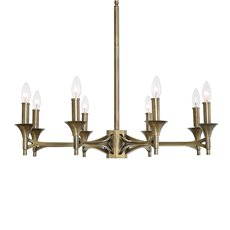 Uttermost Brant Aged Brass 8 Light Chandelier