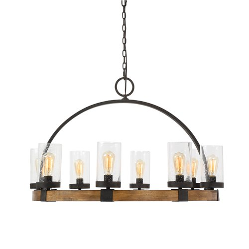 Uttermost Atwood 8 Light Wagon Wheel Pendant