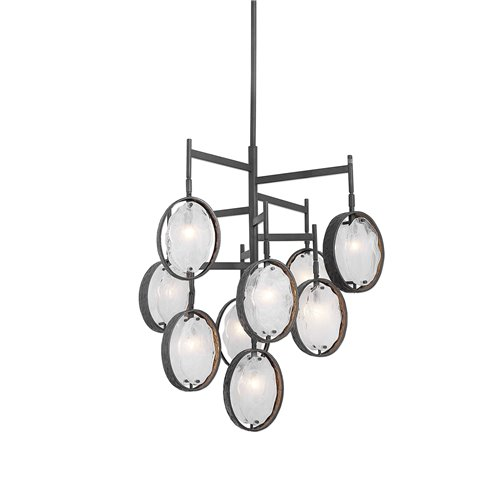 Uttermost Maxin Dark Bronze 9 Light Chandelier